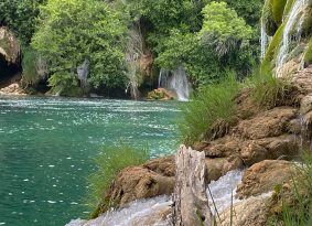 Krka-trees-and-waterfalls