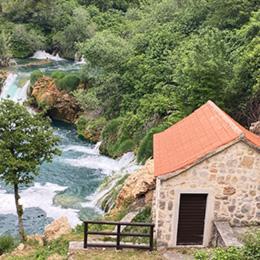 Krka Waterfalls and city Sibenik